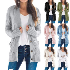 knitted, cardigan, Outerwear, sweater coat