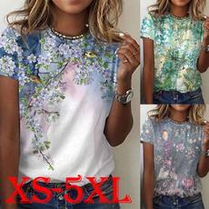 Summer, Plus size top, Shirt, loose top