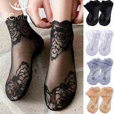 Shorts, Lace, Fish Net, Socks