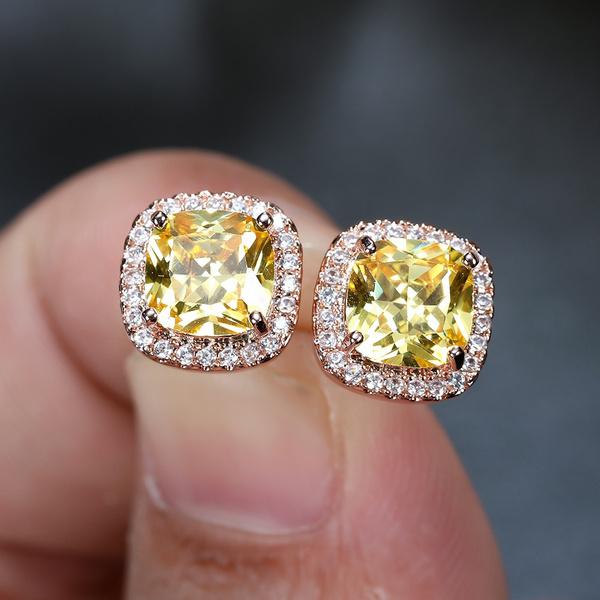 DIAMOND, Jewelry, topazearring, Stud Earring