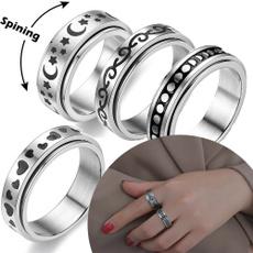 ringforwomen, fidgetspinner, Silver Ring, Stainless steel ring