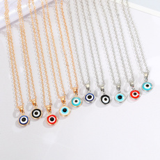 clavicle  chain, Fashion, eye, luckynecklace