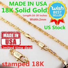 hip hop jewelry, 18ksolidgoldchainforwomen, gold, necklace for women