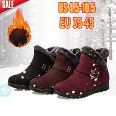 ankle boots, Fleece, Plus Size, Winter