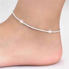 Sterling, adjustableanklet, Shorts, Jewelry