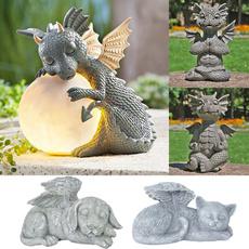 Outdoor, 3dstatue, dragon, decoration