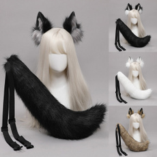 hair, wolfearslongtailset, hairornament, partydecorationsfavor