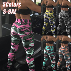 Camouflage Leggings, womenpencilpant, Fitness, trousers