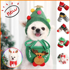 cute, puppy, Cosplay, Christmas