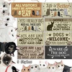 catsign, Funny, plaquesampsign, hangingplaque