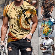 Summer, Fashion, Graphic T-Shirt, Clock