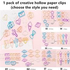 cute, School, animalpaperclip, hollowpaperclip