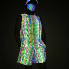 knitted, Vest, Shorts, run