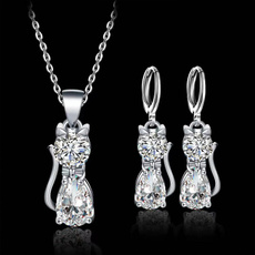Sterling, Cubic Zirconia, lovely, cat925necklace
