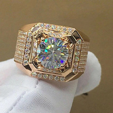 Bling, zirconring, Crystal Jewelry, gold