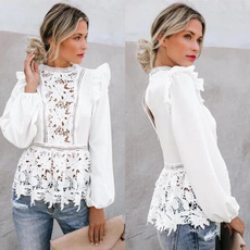 Fashion, Lace, Long Sleeve, Hollow