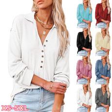 blouse, lapel, Plus Size, Plus Size Fashions