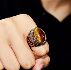 amber, Couple Rings, eye, Jewelry