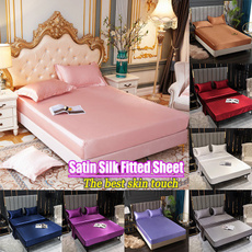 King, silk, Elastic, beddingqueensize