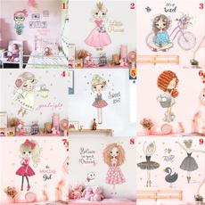 PVC wall stickers, princesswallsticker, Decor, Bicycle