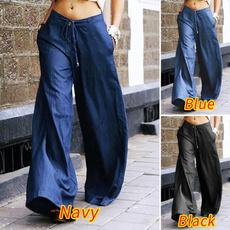 Women Pants, longtrouser, Fashion, Waist