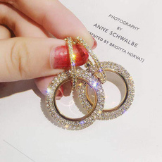 Gold Ring, longtasselearring, Tassels, DIAMOND
