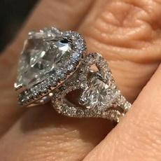 Sterling, cute, DIAMOND, 925 silver rings