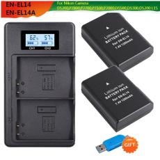 enel14aoriginal, cameranikon, Battery, charger