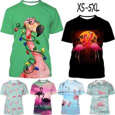 Summer, womens top, flamingotshirt, Tops