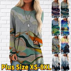 Plus Size, long sleeve dress, long sleeved shirt, Women Blouse
