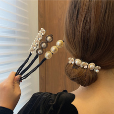 hair, pearlhairpin, hairstyle, Flowers