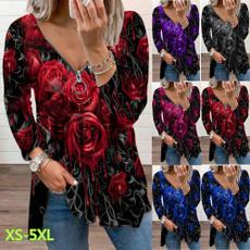 shirtsforwomen, Flowers, Shirt, Sleeve