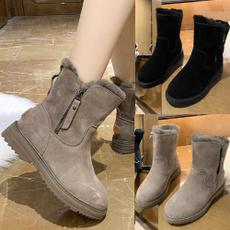 non-slip, Flats, Womens Boots, fur