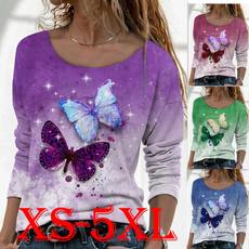 Fashion, Long Sleeve, Plus size top, Autumn Shirts