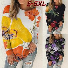 Plus Size, Long Sleeve, roundnecksweatshirt, pullover sweatshirt