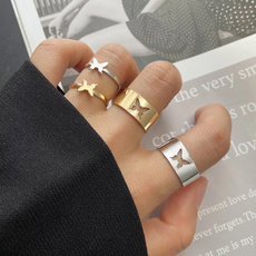 butterfly, Couple Rings, butterflyring, vintage ring