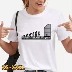Summer, Plus Size, Cotton T Shirt, Tops
