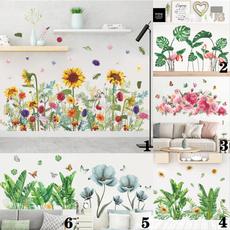 PVC wall stickers, Plants, skirtingsticker, greenplantsticker