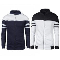 oneckmensjacket, Polyester, zippermensjacket, Sleeve