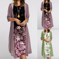 Sleeveless dress, Floral print, chiffon, chiffon dress