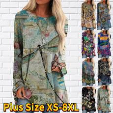 butterfly, Plus Size, long sleeve dress, long sleeved shirt
