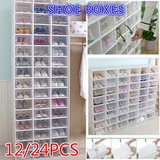 Box, case, plasticshoecontainer, Home & Living