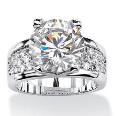White Gold, DIAMOND, 925 sterling silver, wedding ring