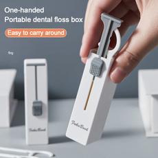 Box, Storage, dentalflossstick, portableautomaticdentalflossbox