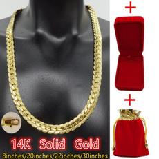 yellow gold, 14ksolidgoldchainforwomen, Chain Necklace, gold