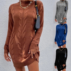 autumnwinter, Fashion, sweater dress, Winter