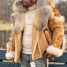 motorcyclejacket, Plus Size, fur, Jacket