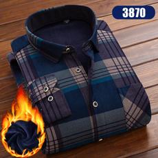 plaid shirt, Fleece, cardigan, Winter