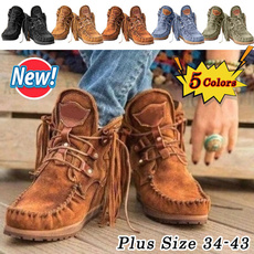 Flats, short boots, Medieval, casualflat