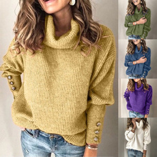 Plus Size, pullover sweater, Long Sleeve, knitted